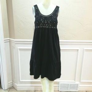 Theory black knit baby doll dress
